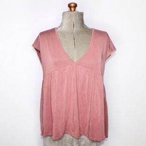 Sadie + Sage Dusty Rose Tee Shirt Medium